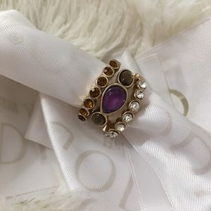 4/$24 Set of Layered Rings with Gemstones
